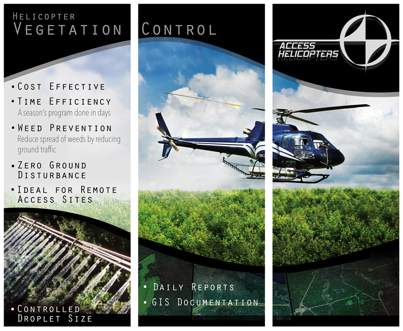 3 Panel Standing Banner - Access Helicopters, Okotoks, AB